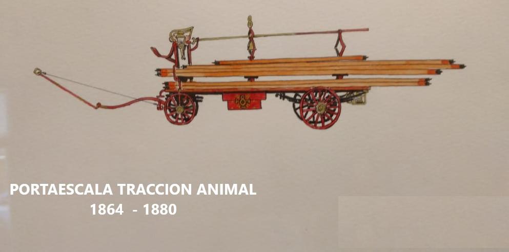 2 PORTAESCALA TRACCION ANIMAL 1864 - 1880