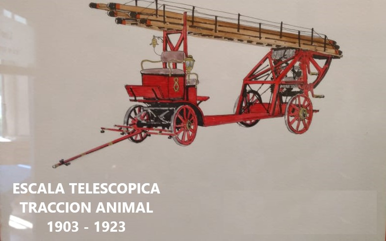 5 ESCALA TELESCOPICA TRACCION ANIMAL 1864-1880
